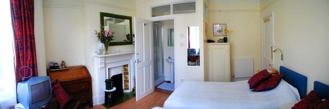 Panorama of twin room